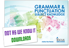 Grammar and Punctuation Subject Knowledge graphic