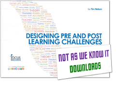 Designing Pre and Post Learning Challenges across the Curriculum graphic