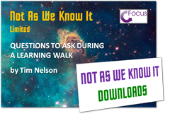Questions for a Learning Walk graphic