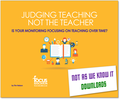 Judging Teaching, Not the Teacher graphic