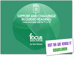 Support and Challenge in Guided Reading graphic