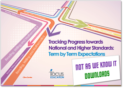 Tracking Progress towards National and Higher Standards graphic