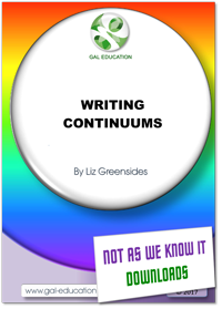 Writing Continuums graphic