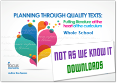 Planning Through Quality Texts - Whole School graphic